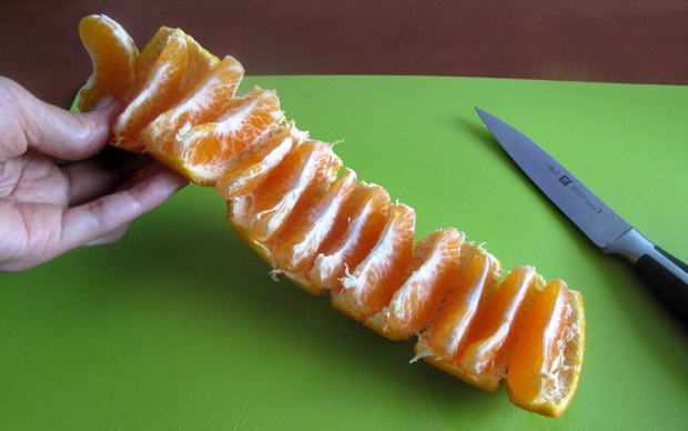 mandarinorange Don't Peel Your Oranges – Unroll Them!