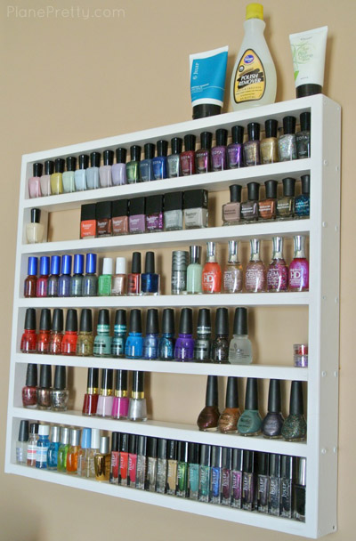 10 Useful Nail Polish Storage Ideas that You Would Love to Copy - Top Inspirations Find this Pin and more on Bed room by Therese Wangler. An athletic shoe box with dividers is a fabulous way to store your nail polish collection.