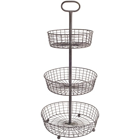Half Round Wire Basket These Half Round Wire Basket Allow You To Make Use  Of The Space On Your Kitchen Walls.