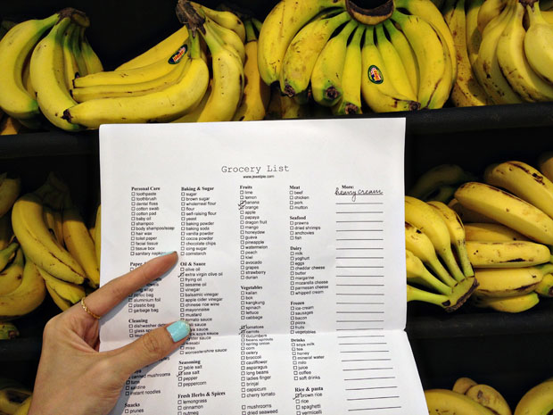 Shop efficiently with a personalised grocery list (free template)