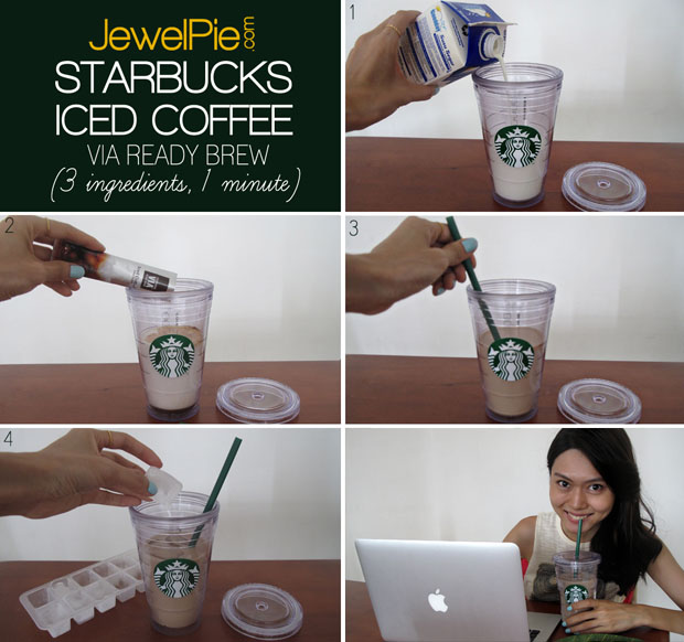 How To Make Starbucks Iced Coffee At Home 3 Ingredients 1