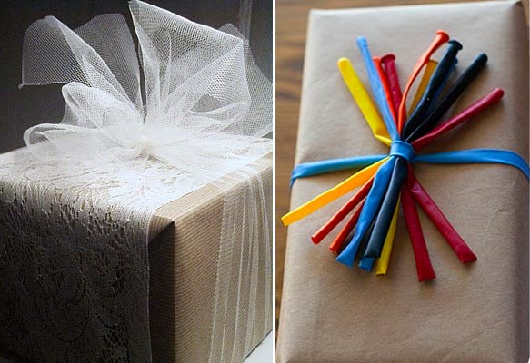 GIFT WRAPPING: 12 creative alternatives to ribbons and bows