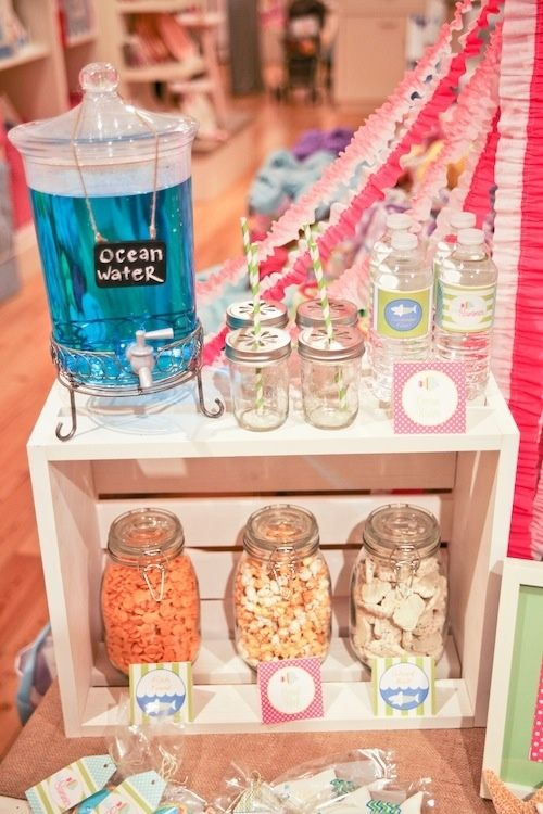 Blue Drinks In Bottles Ocean Water Can Also Be Presented Gl With Straws From The Wedding Season