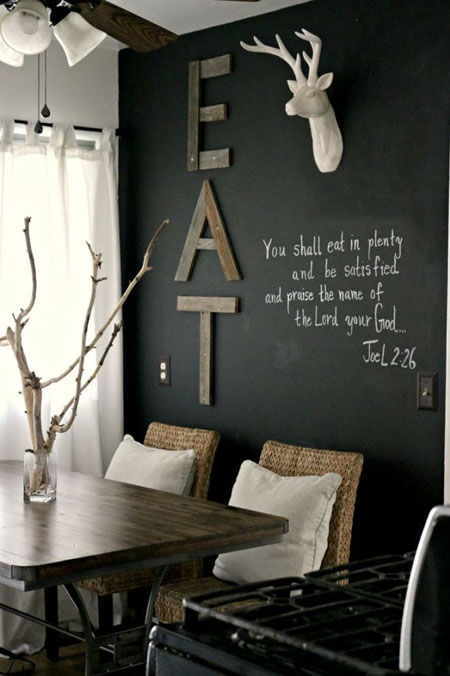 15 things you can do on blackboard walls jewelpie - Things to put on a wall ...