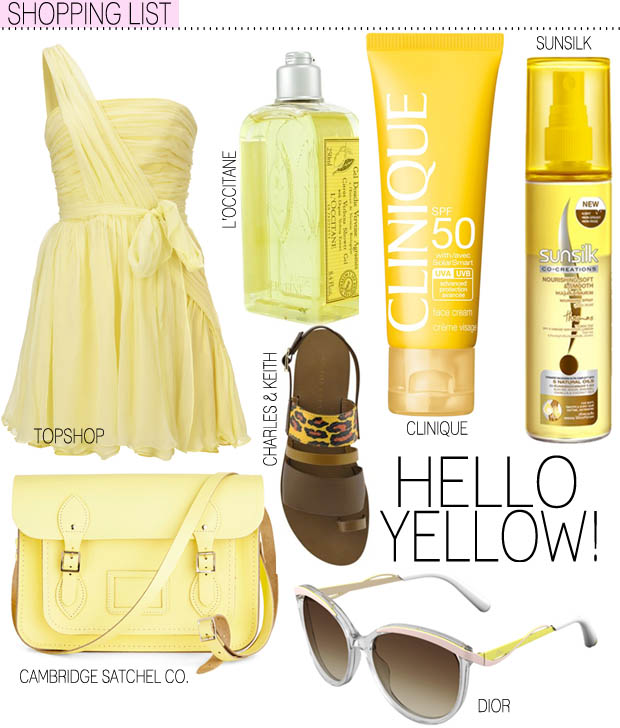 SHOPPING LIST #1: Hello Yellow!