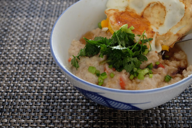 RECIPE: Savoury oatmeal 'congee' in 5 minutes!