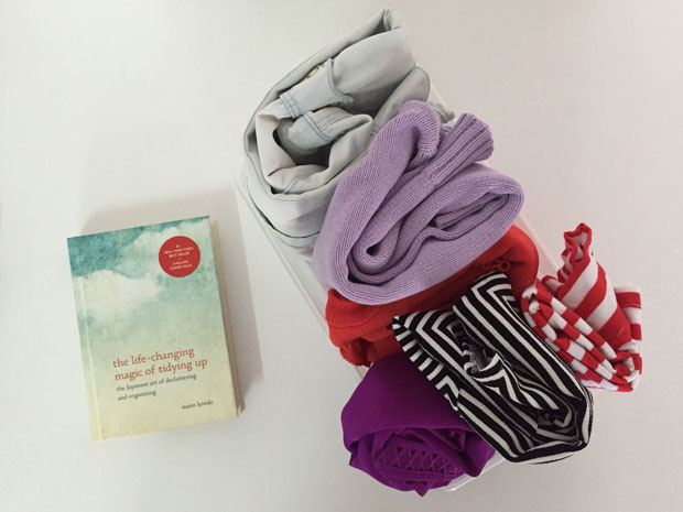 marie kondo - folded clothes