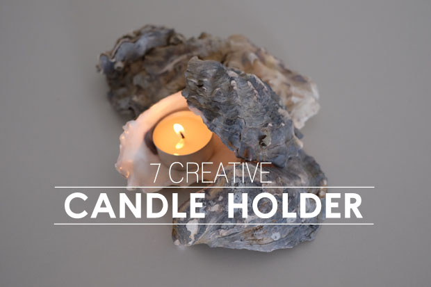 7 creative candle holders from common items at home