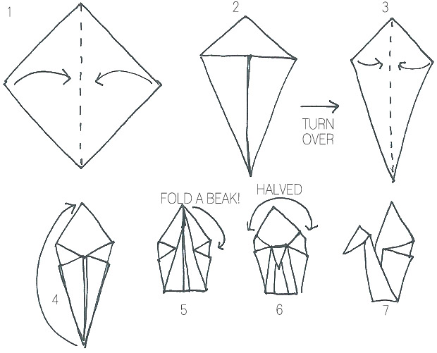 How to Make An Origami Crane for Your Wedding | Martha Stewart ... | 501x620
